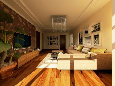 港汇广场52平现代简约风格家庭一居室装修效果图