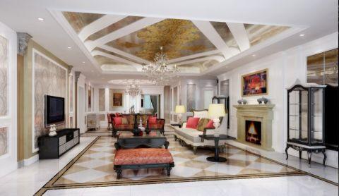 现代法式风格别墅装修效果图