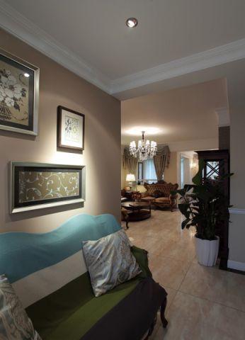 复古欧式二居室家装图片