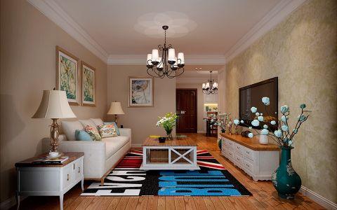 金大地1912二手房改造简美风格三居室装修效果图