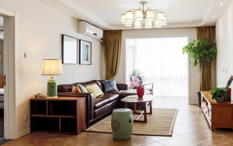 韩式风格三居室家庭装修图片