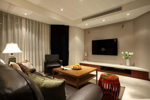 简洁风混搭二居室装修案例图片
