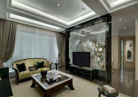 湖畔兰庭145平新中式风格套房装修效果图