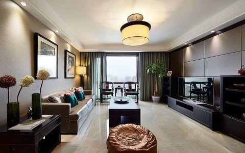 湘江公寓鼎石苑现代中式风格装修效果图