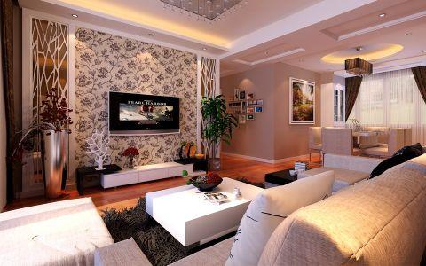 城改美景人家三室两厅两卫现代简约装修效果图