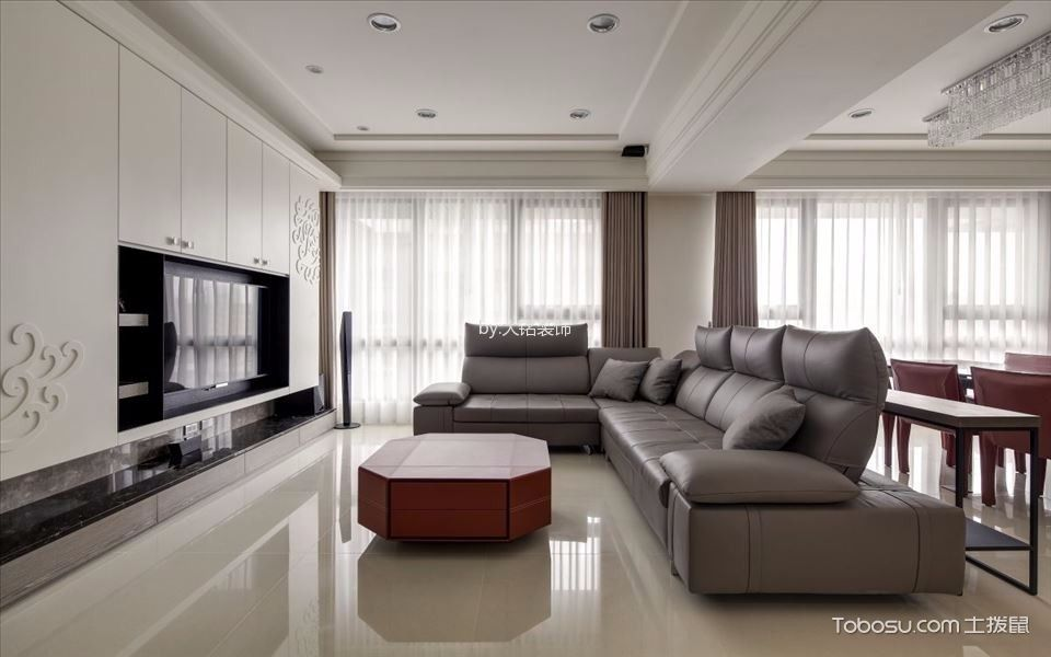 思念果岭山庄简约法式风格新房设计案例图