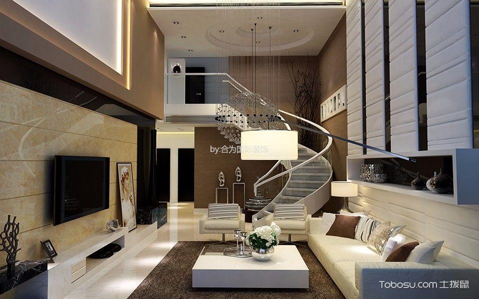现代简约风格别墅效果图