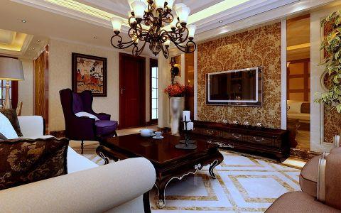 海顿公馆三室两厅简欧风格装修效果图