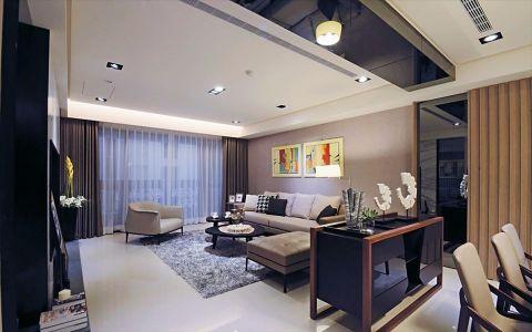 现代时尚三居室装修图片案例