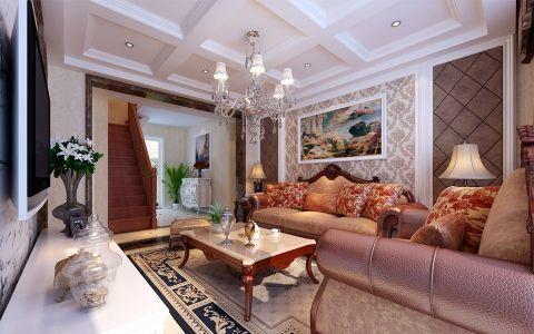 华邦世贸城三室两厅简欧风格装修效果图