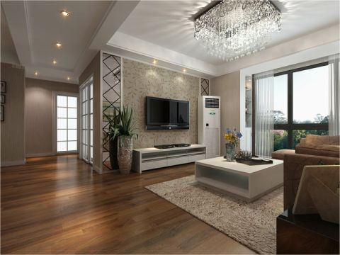 家天下130平方大户型现代简约风格效果图案例赏析