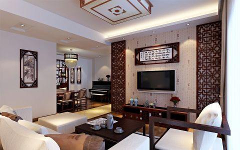 家天下三室两厅新中式装修效果图