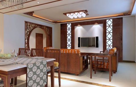 简中风格三居室家居设计效果图