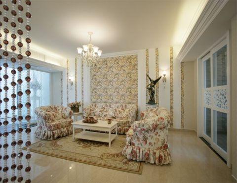 美好桂花溪园欧式田园风格二居室装修图片