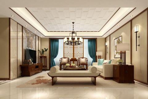 左岸生活新中式风格四居室设计效果图案例