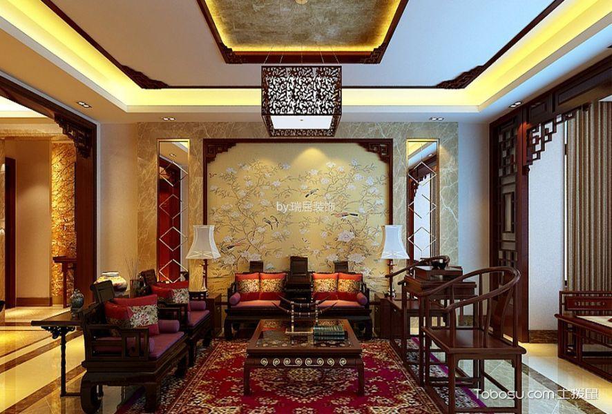 2021中式古典150平米效果图 2021中式古典三居室装修设计图片