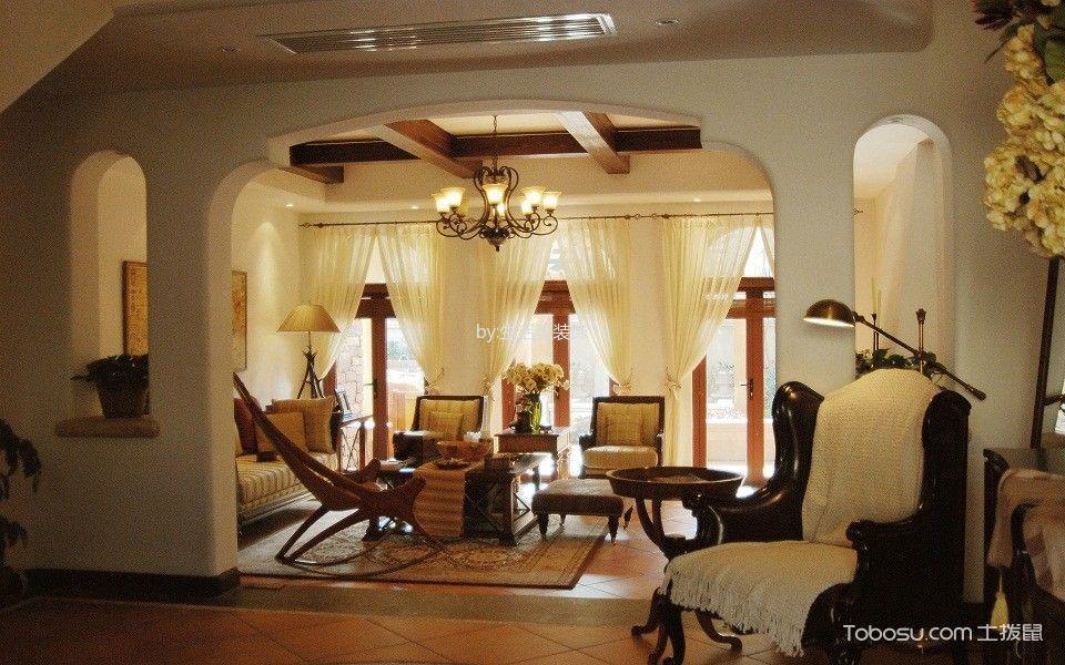 客厅窗帘美式风格装饰效果图图片