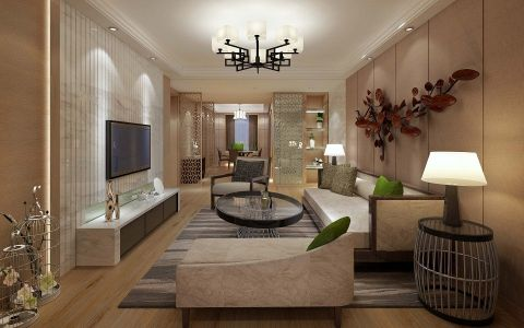 新中式风格套房家装效果图