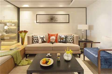 中山花园混搭风格公寓装修案例图