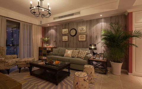 美式风格混搭设计三居室装修图片