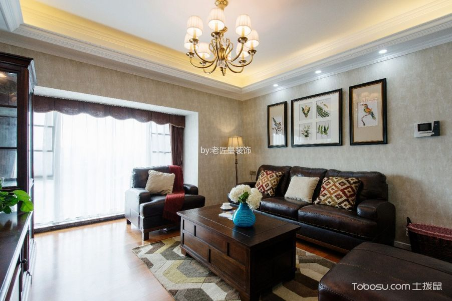 美式简约风格三居室装修效果图