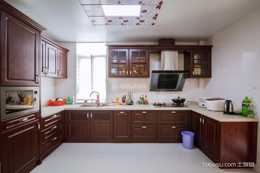厨房白色吊顶混搭风格装潢设计图片