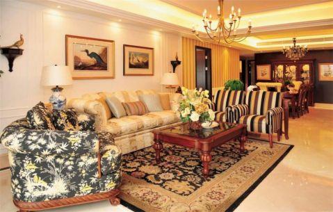 美式风格大户型家庭装修效果图