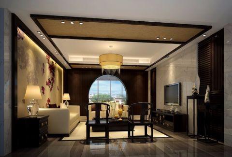 华馨公寓现代中式风格三居室装修图