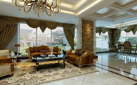久隆凤凰城现代欧式风别墅装修案例图