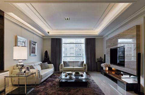 铂金名筑现代风格四居室装修