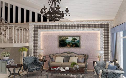 欧式混搭风格四居室装修设计