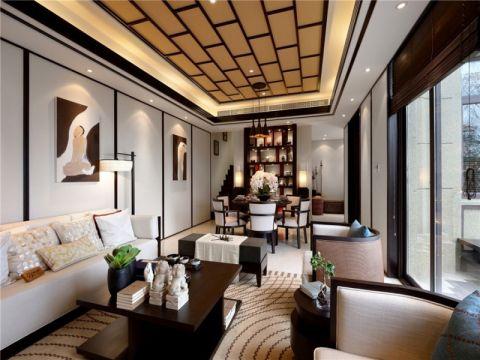 现代中式风格三居室装修设计