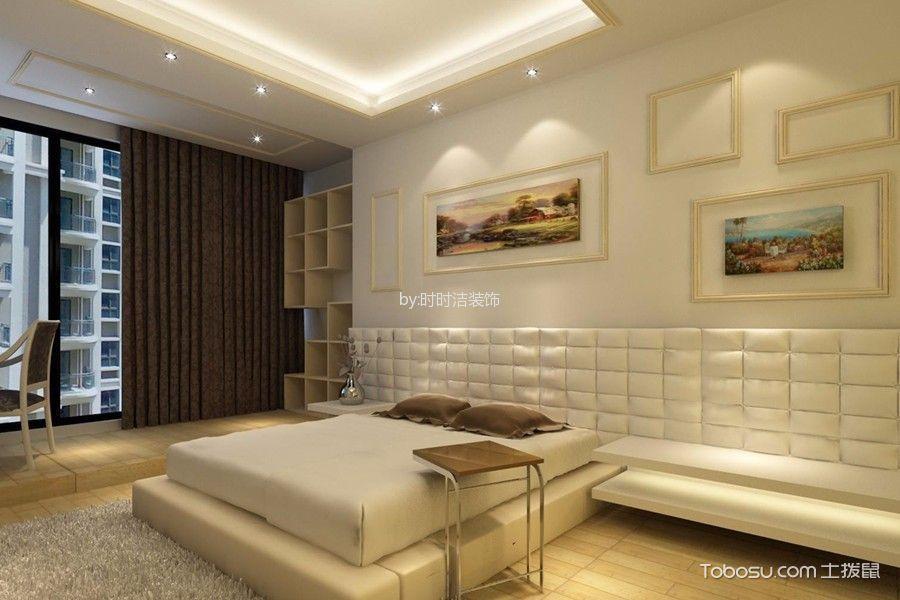 卧室米色榻榻米欧式风格装修设计图片