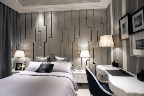 卧室背景墙古典风格装潢效果图