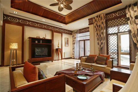 客厅东南亚风格效果图