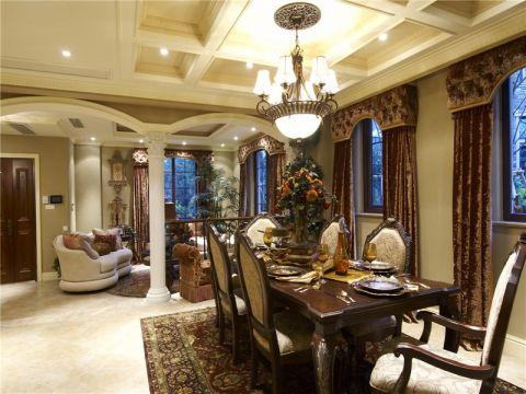餐厅吊顶古典风格装潢效果图
