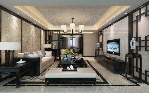 中海国际四居室中式风格精装效果图