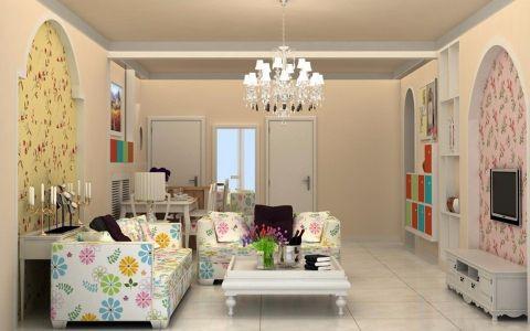 凤凰湾欧式田园风格三居室设计效果图
