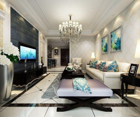 锦绣豪庭89平方户型现代简约风格效果图案例赏析