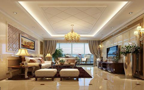 中海原山简欧风格实景三居室图片