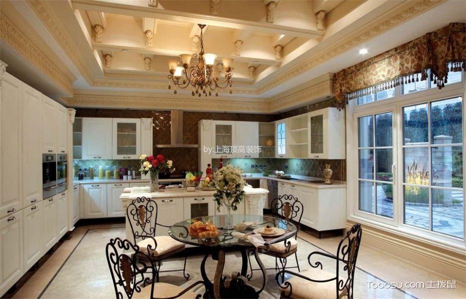 厨房白色吊顶欧式风格装潢设计图片