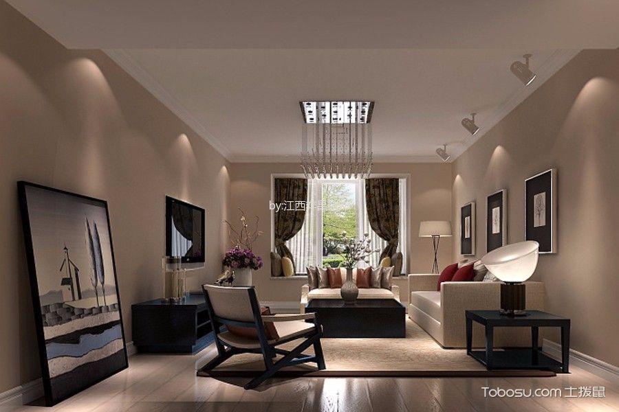 客厅咖啡色飘窗简约风格装潢效果图