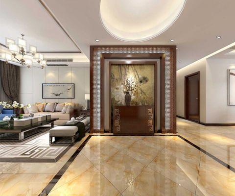 玫瑰园180平方大户型新中式风格效果图案例赏析