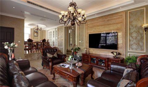 华府国际110平二室一厅美式风格装修