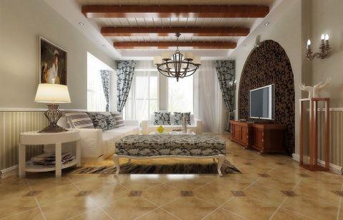 中南世纪花城美式三居室装修图