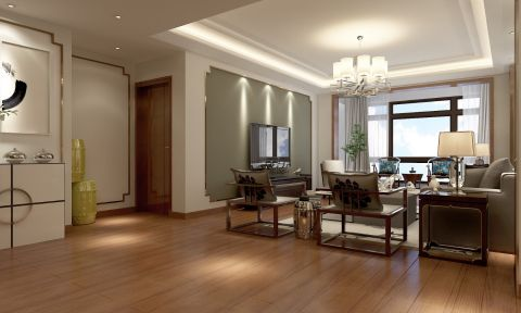 现代中式U乐国际舒适大户型u乐娱乐平台设计