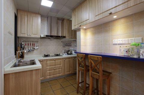 厨房吧台简单风格效果图