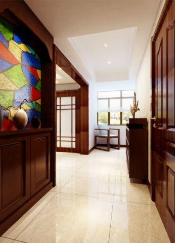 华强广场简约中式风格套房设计案例图