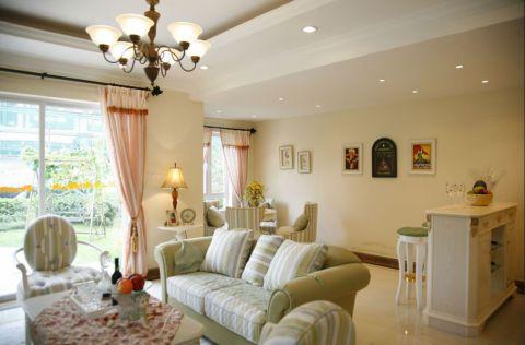 玫瑰园欧式田园风格二居室装修图片