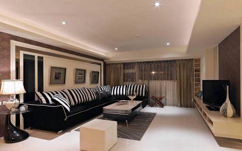 现代繁复风两居室家庭装修图